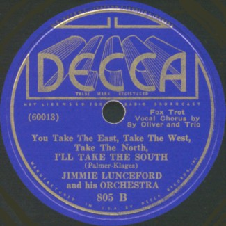 Decca Label-I'll Take The South-Jimmie Lunceford And His Orchestra-1936