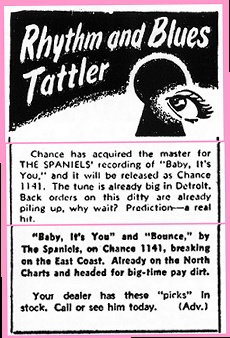 'Baby It's You' Ad From 1953