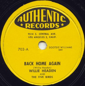 Authentic Label-Five Birds-Back Home Again-1956