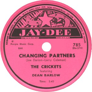 Jay-Dee Label-Changing Partners-The Crickets-1953
