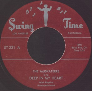 Swing Time Label-Deep In My Heart-Muskateers-1953