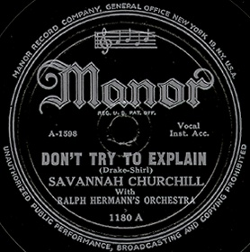 Manor Label-Don't Try To Explain