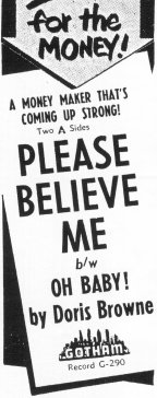 Billboard Ad For 'Please Believe Me' from March 1953