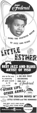 1951 Billboard Clipping For Little Esther/Federal 12016