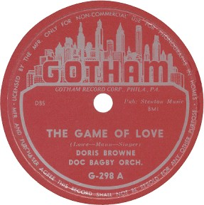 Gotham Label-The Game Of Love-Doris Browne-1953
