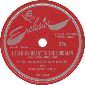 Exclusive Label-Basin Street Boys-I Sold My Heart To The Junk Man-1948