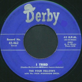 Derby Label-I Tried-Four Fellows-1954