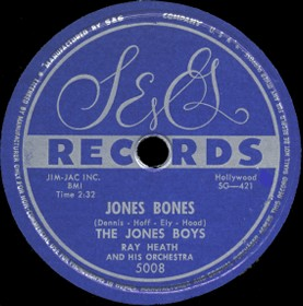 S&G Label-Jones Bones-Jones Boys-1954