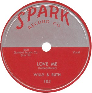 Spark Label-Willy & Ruth-Love Me-1954