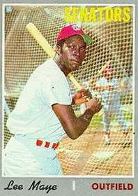 Lee Maye Baseball Card (1970)