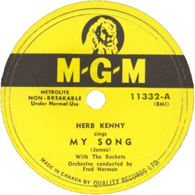 MGM Label (78)-My Song-Herb Kenny With The Rockets-1952