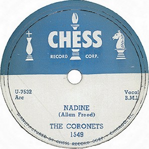 Chess Label-Nadine-The Coronets-1953