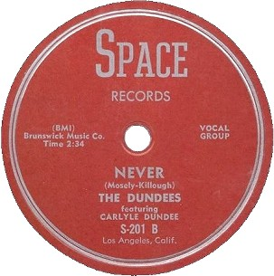 Space Label-Never-The Dundees-1954