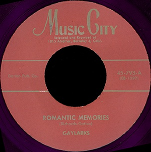 Music City Label-Romantic Memories-The Gaylarks-1955