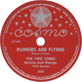 Cosmo Label-Rumors Are Flying-The Two Tones-1946