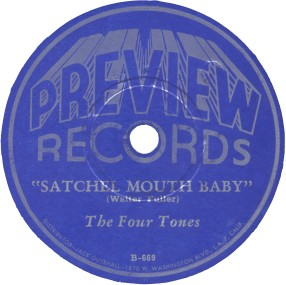 Preview Label-Satchel Mouth Baby-The Four Tones-1945
