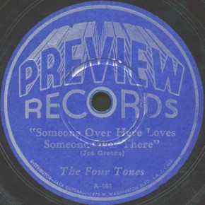 Preview Label-Someone Over Here Loves Someone Over There-The Four Tones-1945