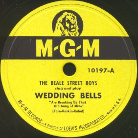 MGM Label-Wedding Bells-The Beale Street Boys-1948